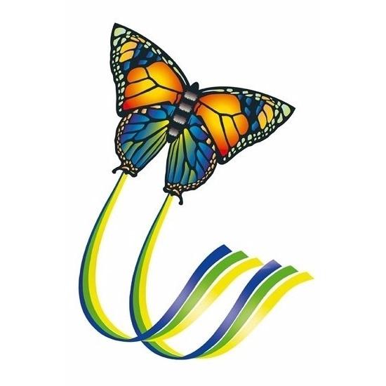 Kindervlieger vlinder gekleurd