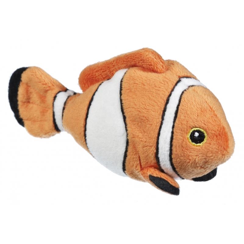Afbeelding Knuffel clownvis oranje/wit 13 cm door Animals Giftshop