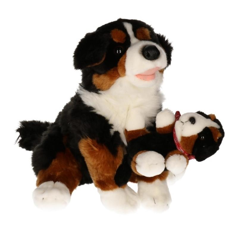 Knuffel hond Berner Sennen 30 cm