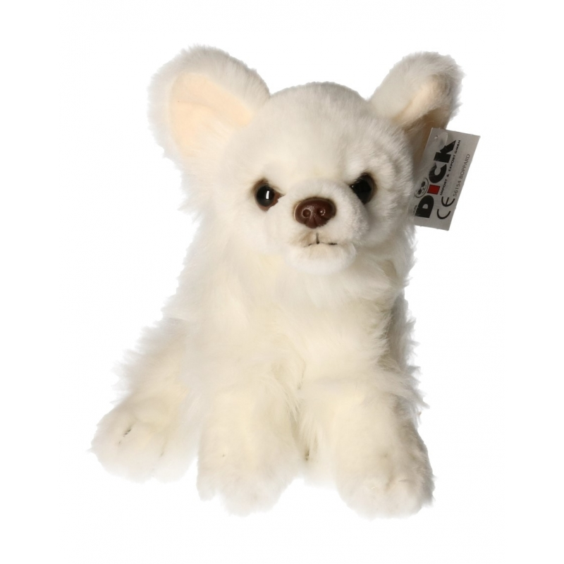 Knuffel hond witte Chihuahua 17 cm