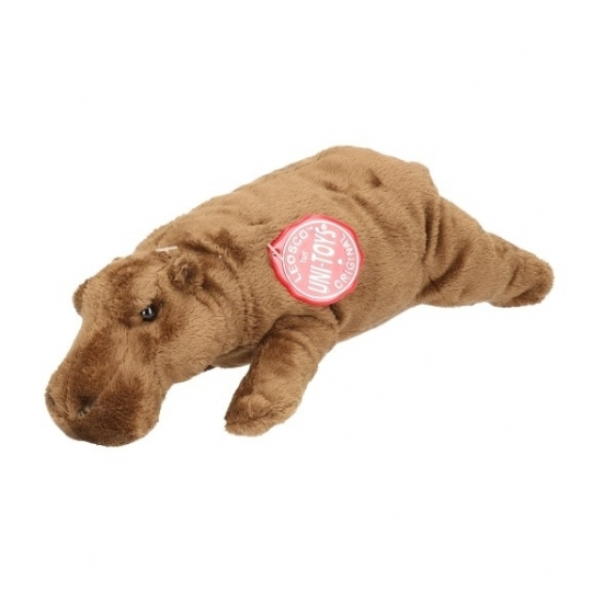 Knuffel nijlpaard bruin 25 cm