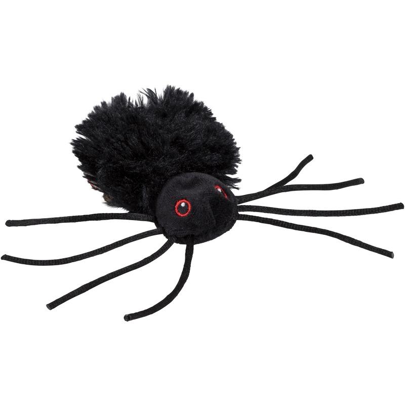 Knuffel spin zwart 13 cm