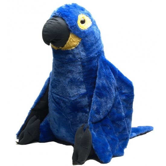 Knuffeldier blauwe papegaai 76 cm