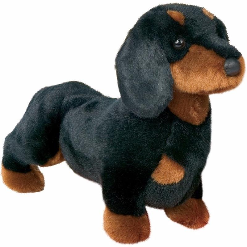 Knuffeldier hond tekkel 41 cm