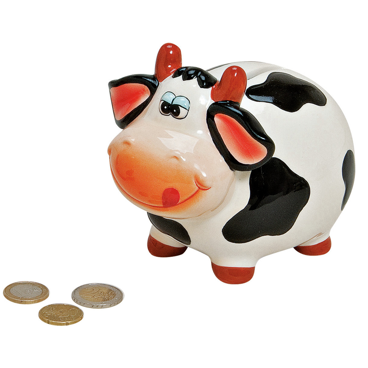 Koeien/kalfjes spaarpot 12 cm