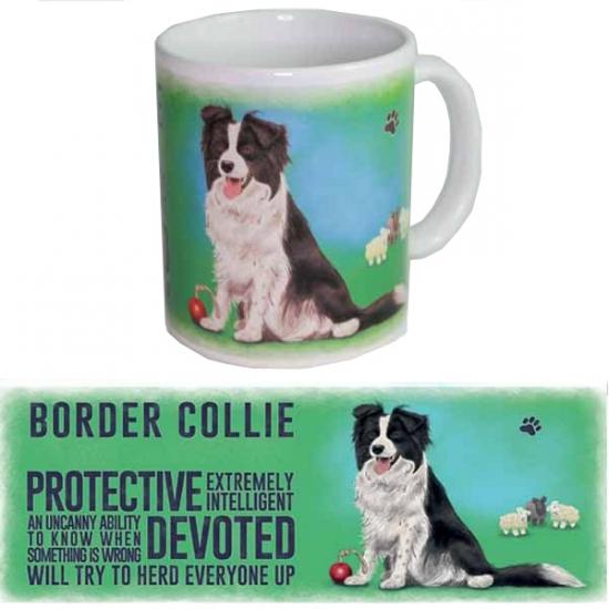 Koffie beker Border Collie hond