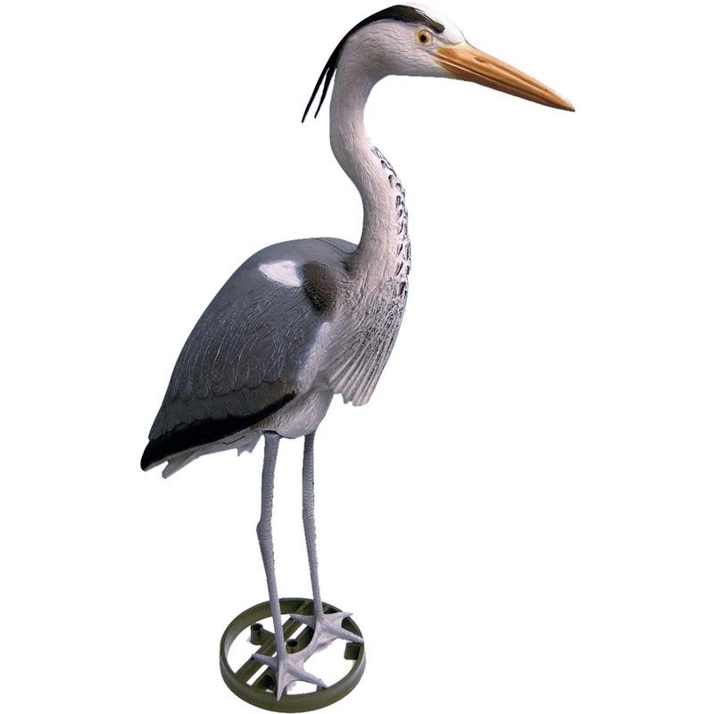 Kunststof blauwe reiger vogel dierenbeeld 87 cm