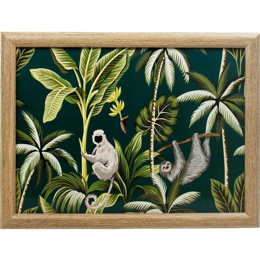 Laptray/schoottafel Botanische print 43 x 33 cm