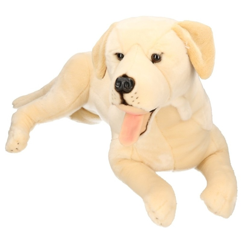 Liggende knuffel labrador 65 cm