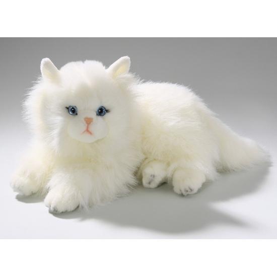 Liggende Perzische kat knuffel dier 30 cm