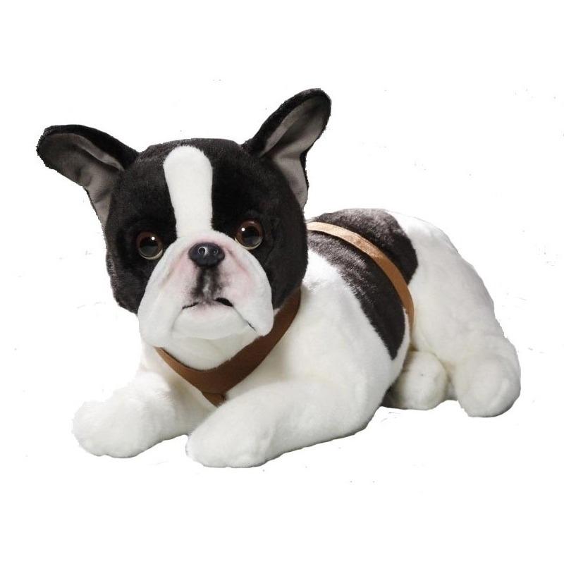 Liggende pluche Franse Bulldog honden knuffel 50 cm