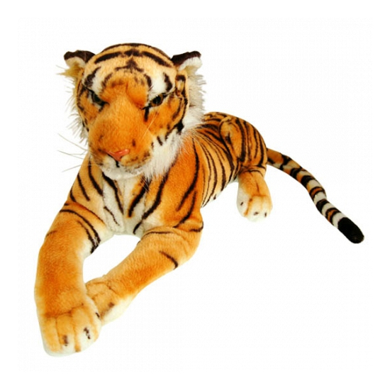 Liggende pluche tijger 100 cm