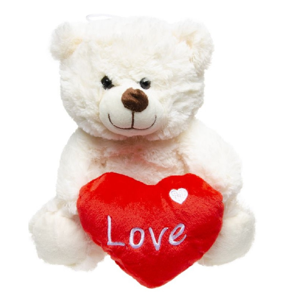 Love witte beer knuffel 23 cm knuffeldieren