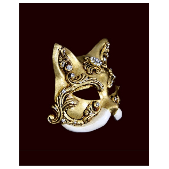 Luxueus masker baroque kat wit