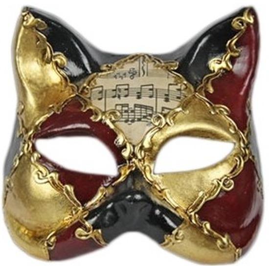Luxueus masker muziek kat