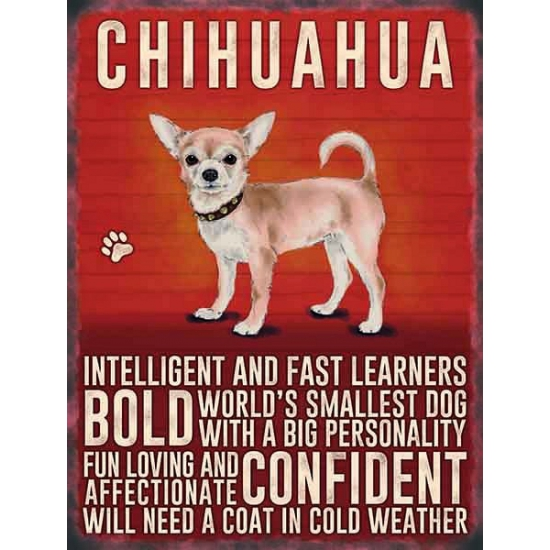 Metalen wand bord Chihuahua