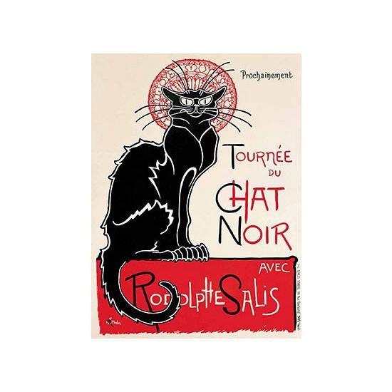 Metalen wand bord Le Chat Noir