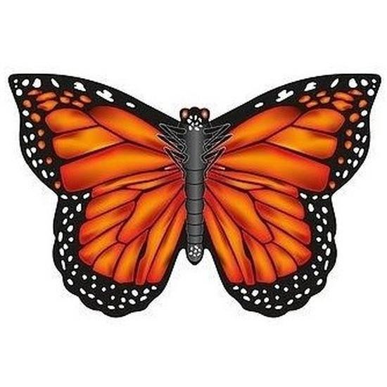 Monarch vlinder speel vlieger 70 x 48 cm