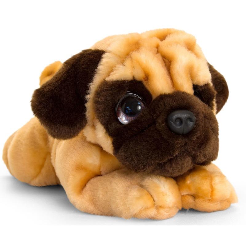 Mopshond honden knuffeldier 37 cm