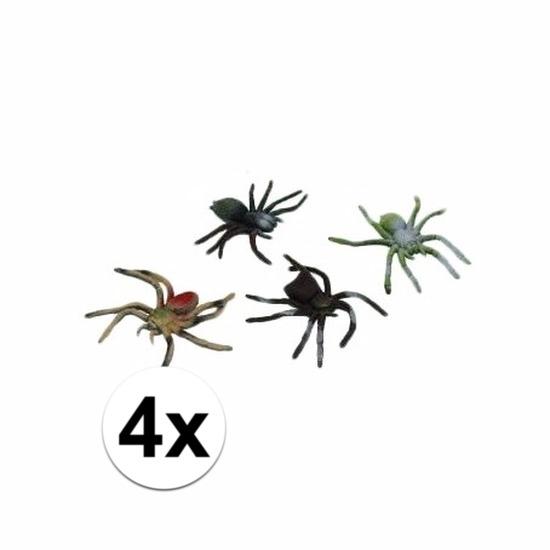 Nep spinnetjes 10 cm 4 stuks