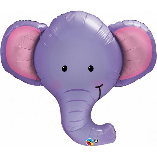 Olifant dieren folie ballonnen 90 cm