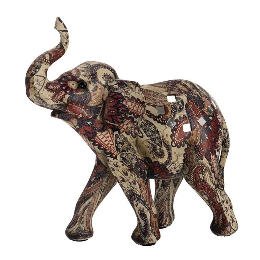 Olifant woondecoratie dieren beeldje 20 x 9 x 21 cm