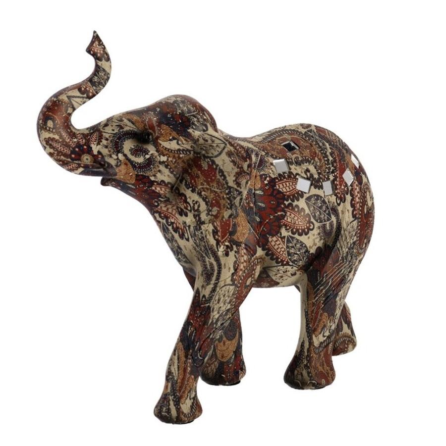 Olifant woondecoratie dieren beeldje 23 x 9 x 23 cm