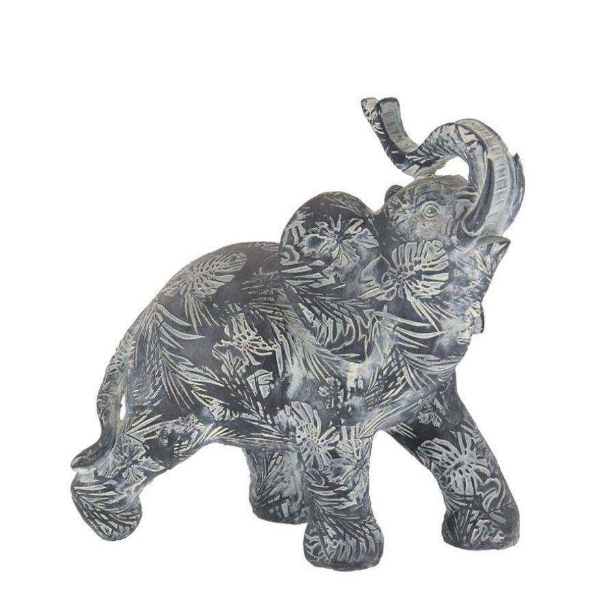 Olifant woondecoratie dieren beeldje grijs 21 x 8 x 19 cm