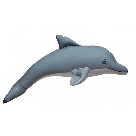 Opblaas dolfijn grijs 51 cm