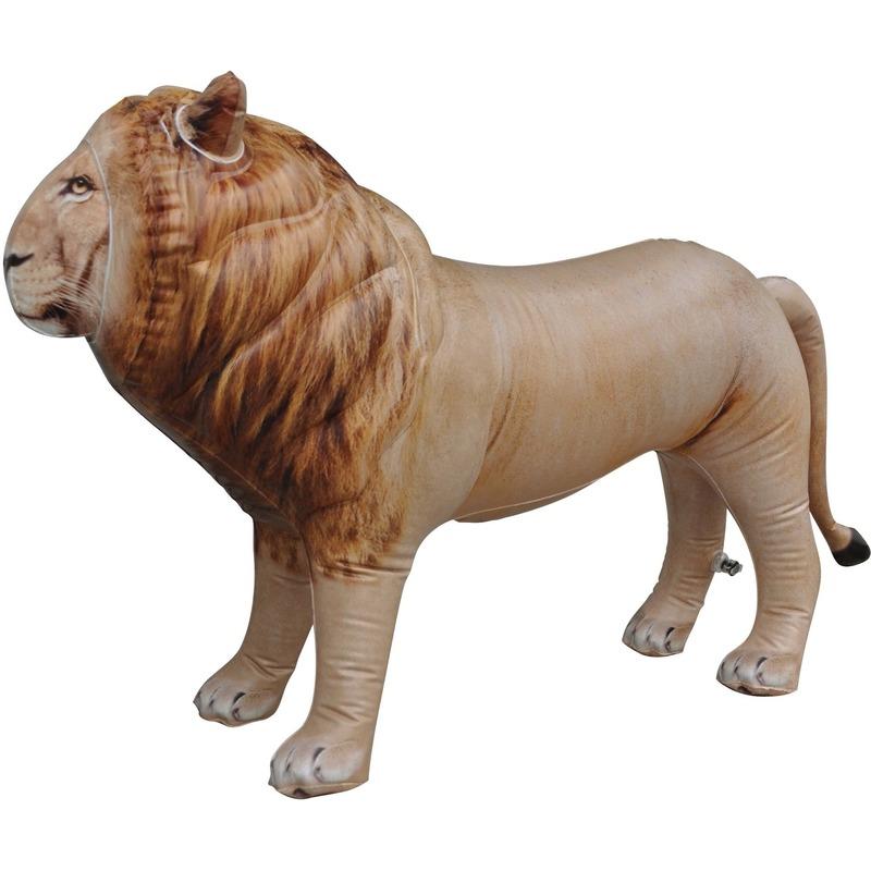 Opblaas leeuw dieren 60 cm realistische print