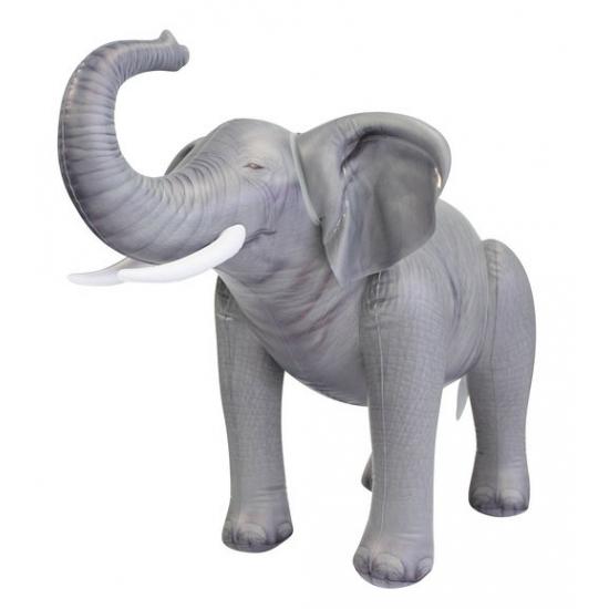 Opblaas olifant grijs 61 cm
