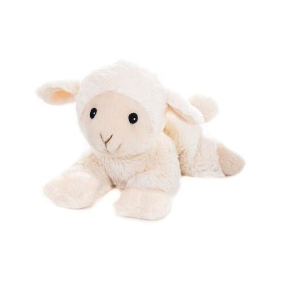 Opwarmbare knuffel schapen/lammeren wit