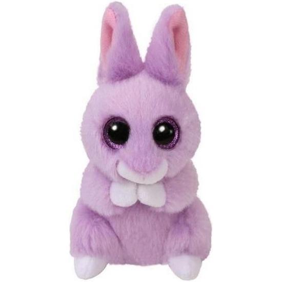 Paarse Ty Beanie konijn/haas knuffels April 10 cm knuffeldieren