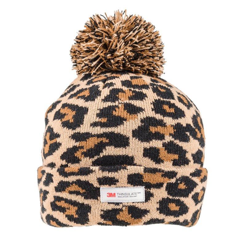 Panterprint/luipaardprint muts bruin/zwart voor dames/vrouwen
