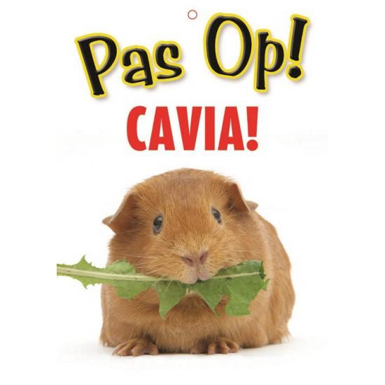Pas op voor Cavia bordje