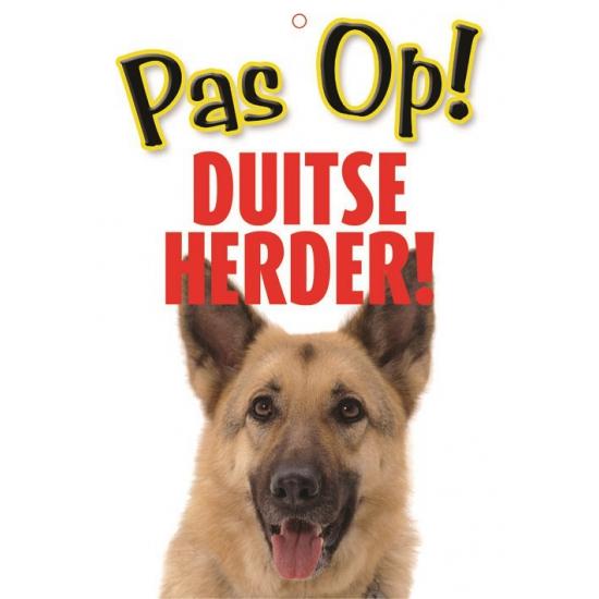 Pas op voor Duitse Herder bordje