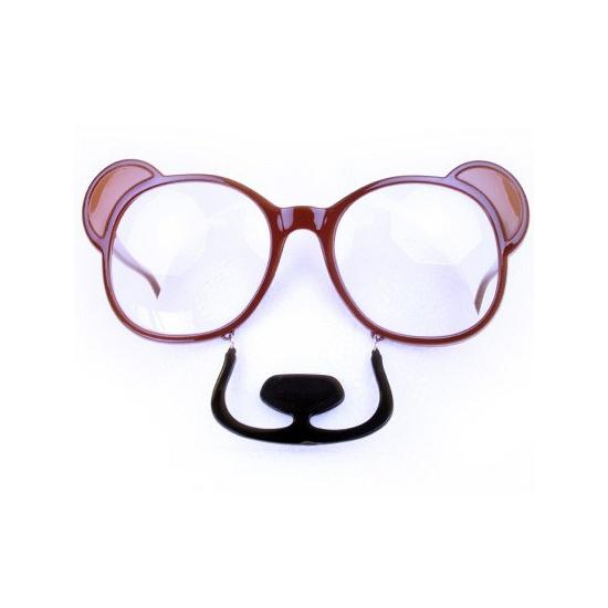 Plastic beren bril