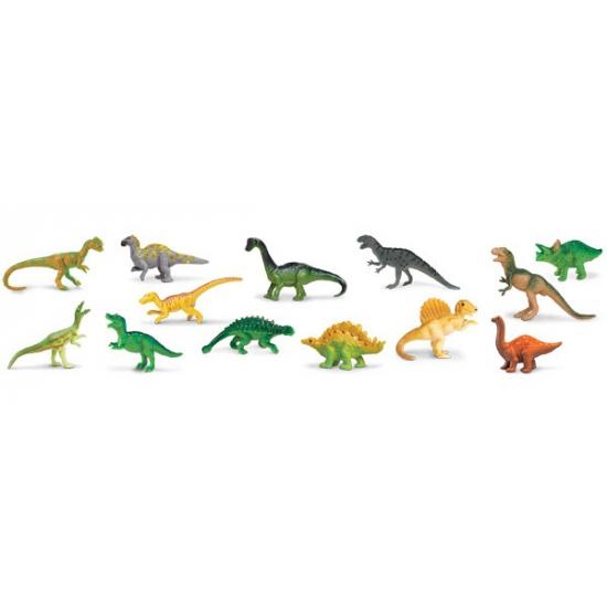 Plastic dinosaurussen in koker 12 stuks