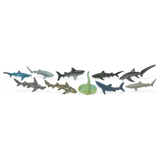 Plastic haaien dieren 10 stuks