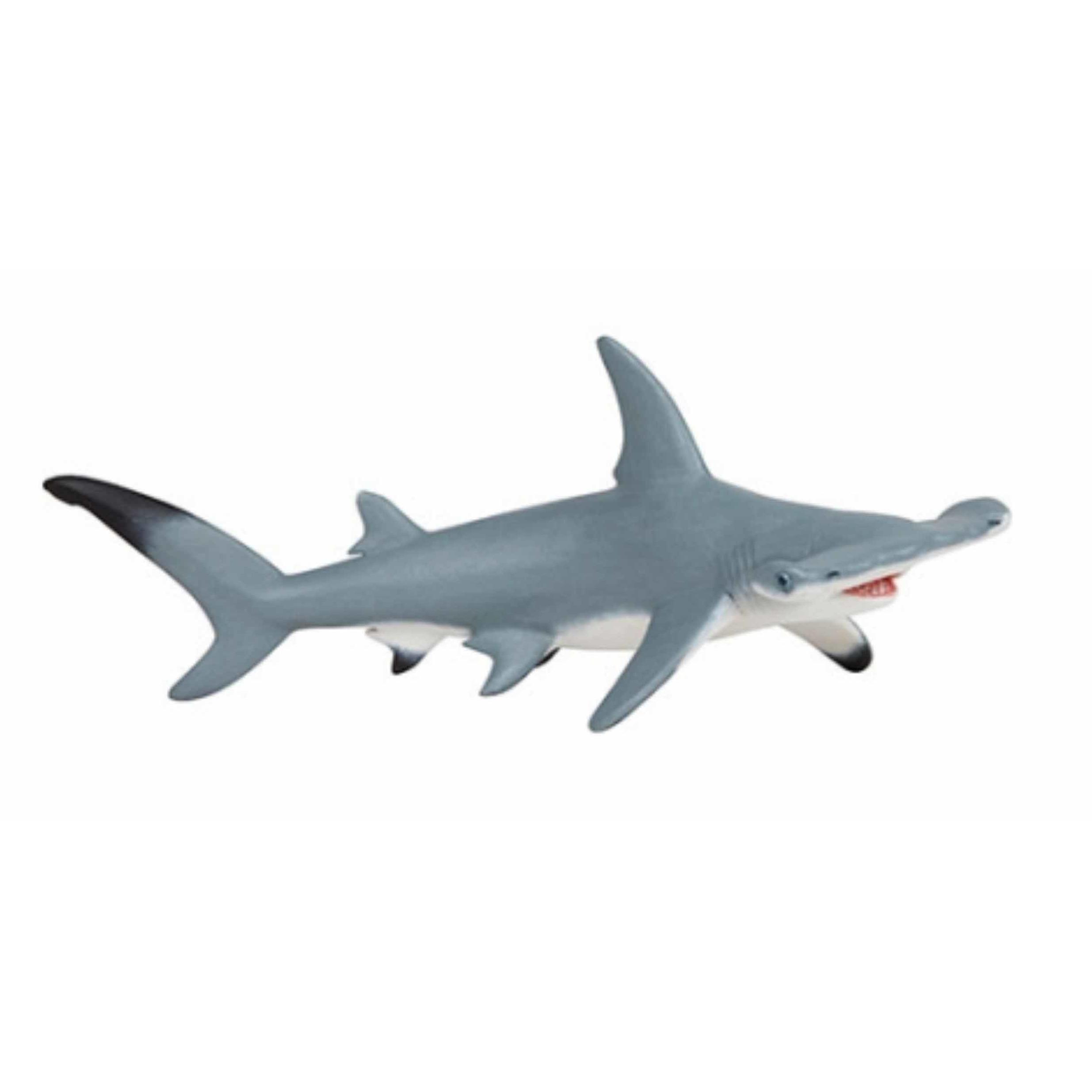 Plastic hamer haai speeldiertje 17 cm