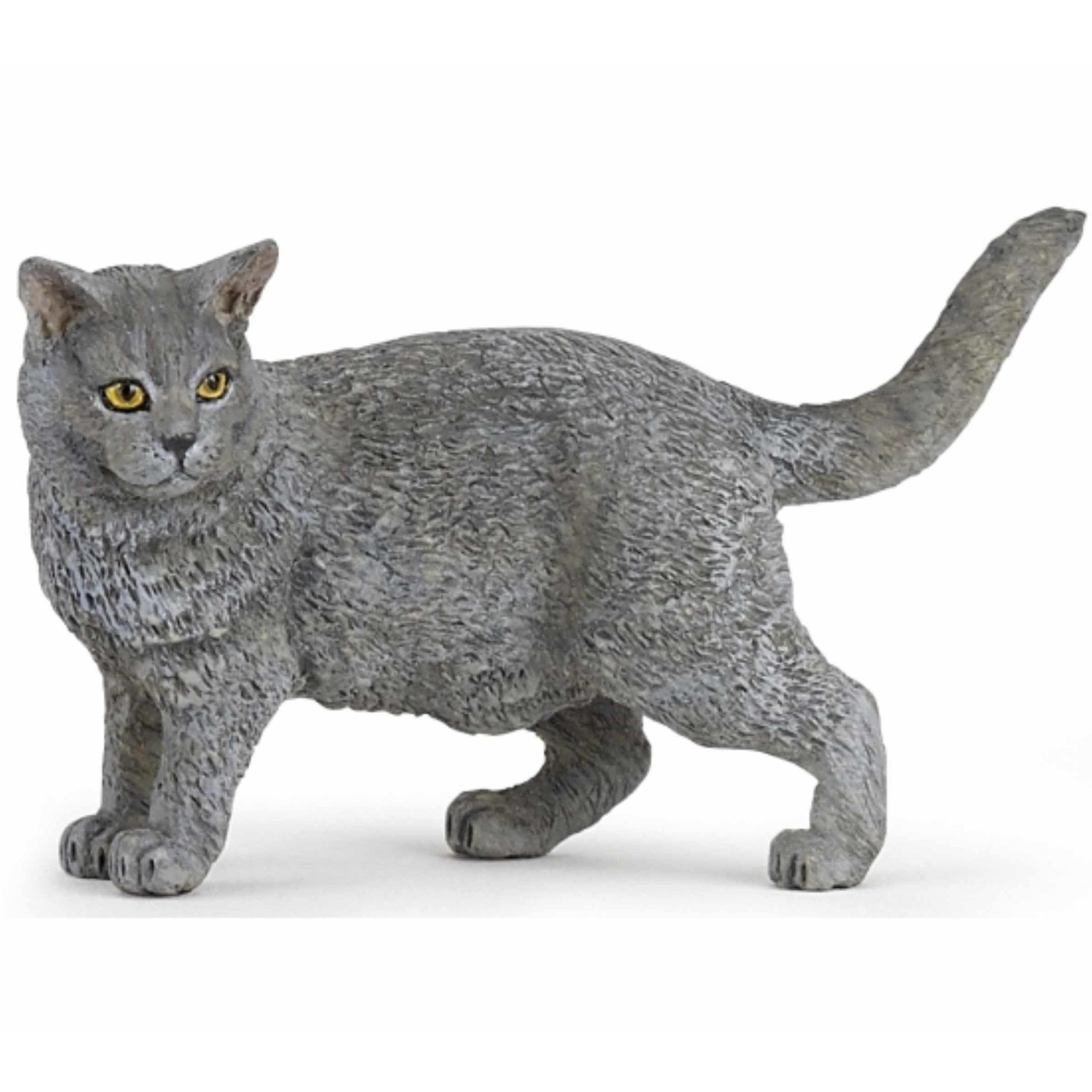 Plastic kat / poes diertje 4,4,5 cm