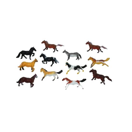 Plastic paarden 6 cm