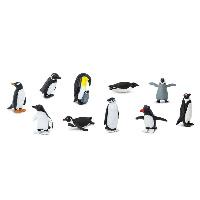 Plastic pinguins in koker 10 stuks