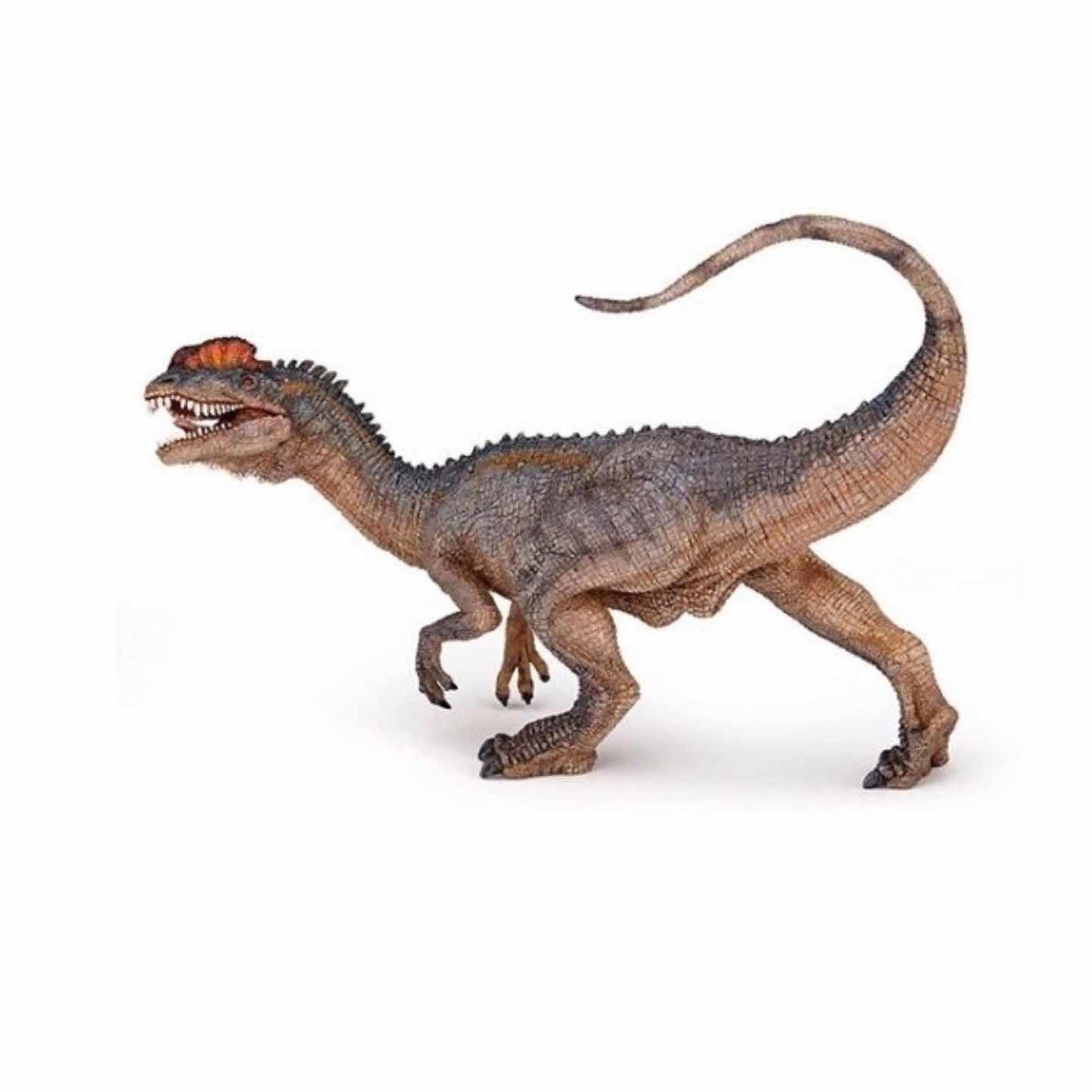 Plastic speelfiguur dilophosaurus dinosaurus 4,5 cm
