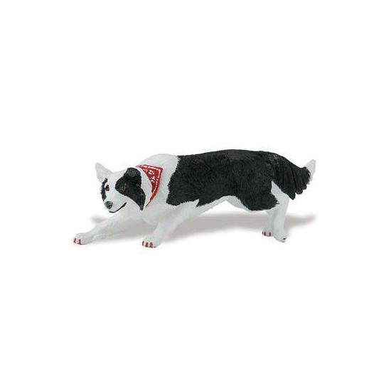 Plastic speelgoed Border Collie hond 12 cm