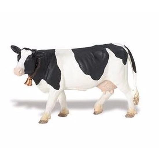 Plastic speelgoed figuur Holstein-Friesian koe 12 cm