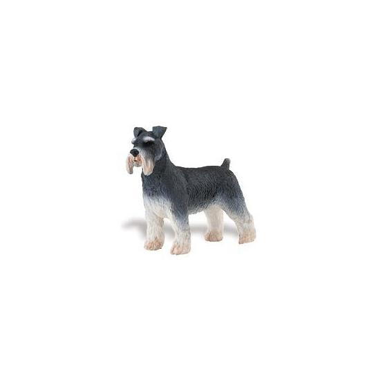 Plastic speelgoed schnauzer hond 7 cm