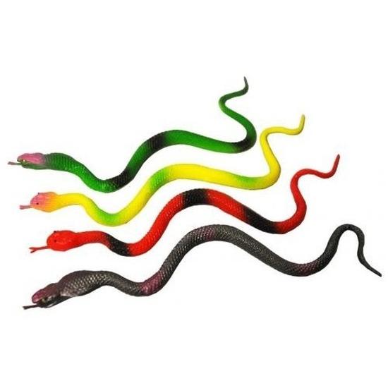 Plastic speelgoed slangen 4 stuks 23 cm