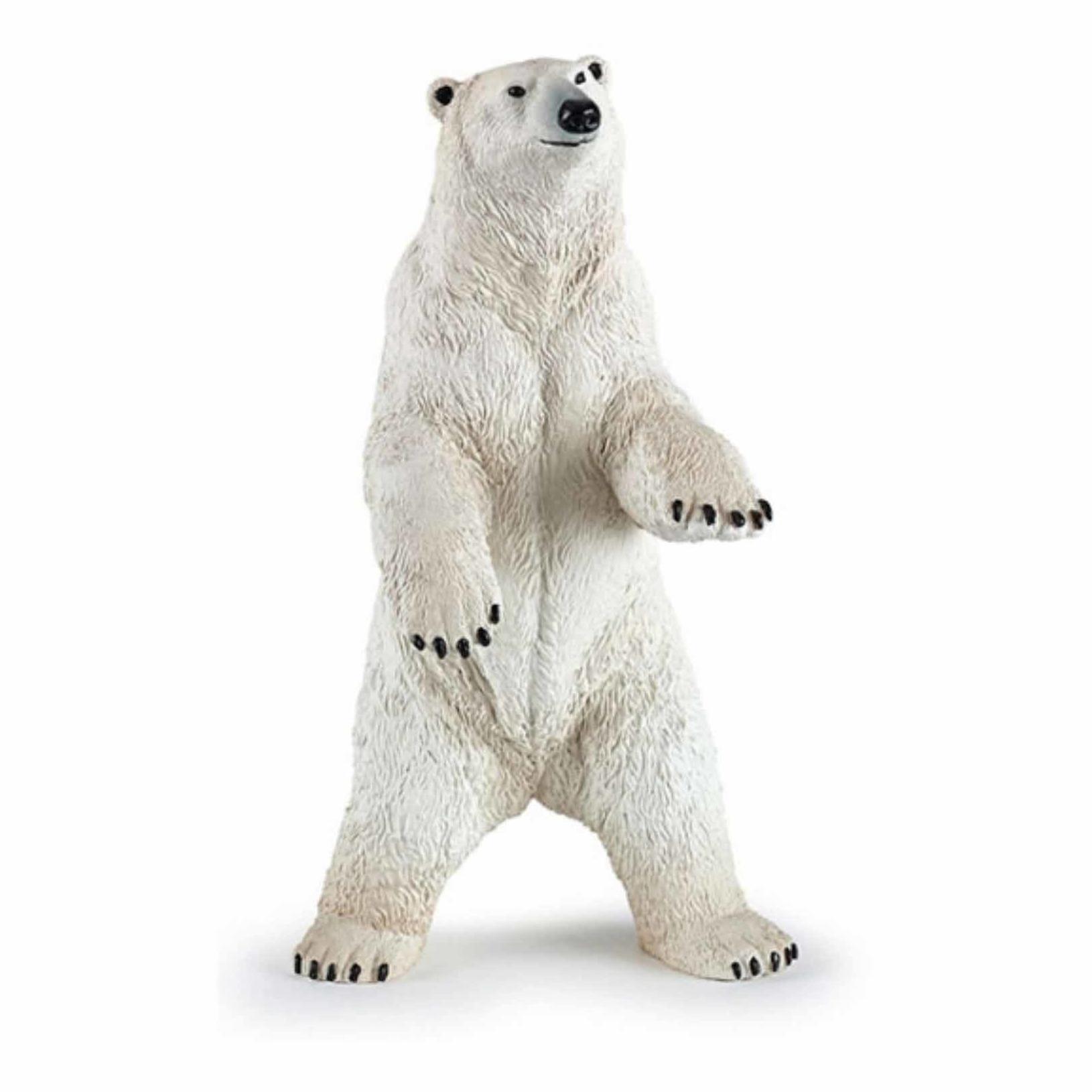 Plastic staande ijsbeer speeldiertje 7 cm