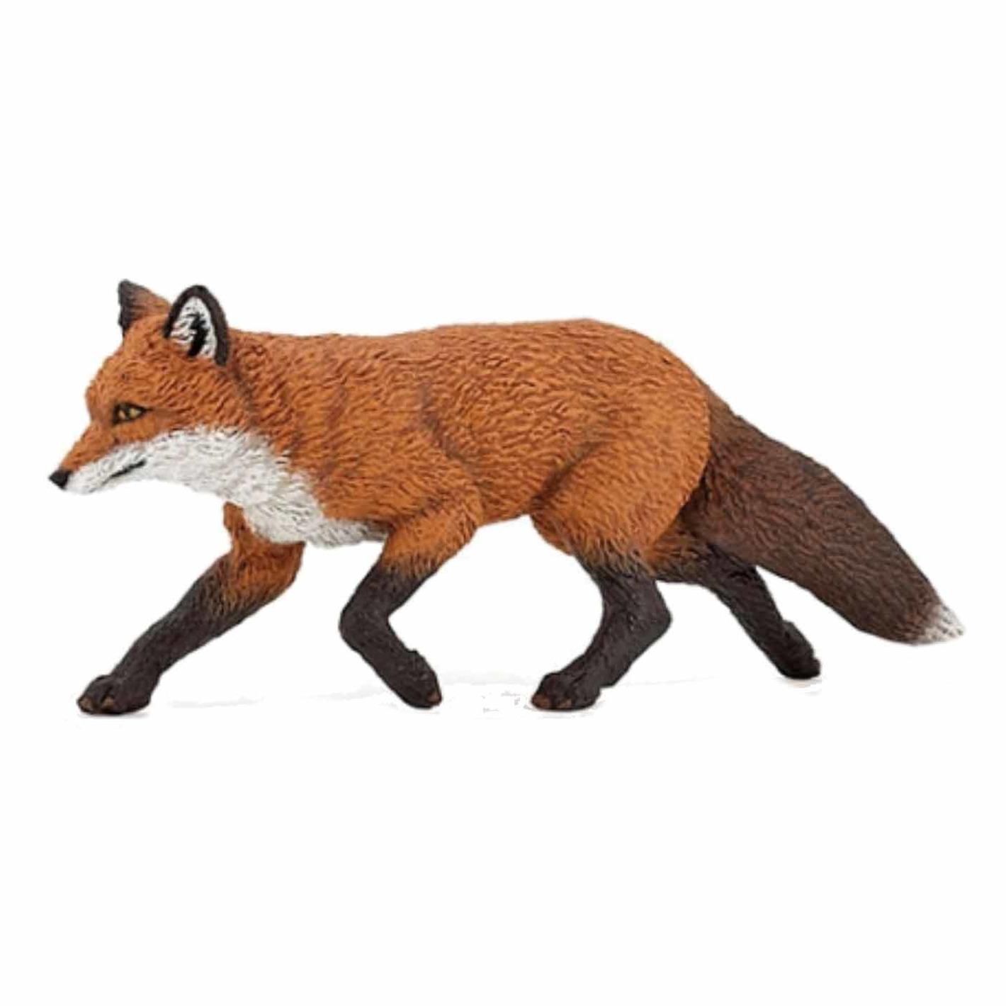 Plastic vos speeldiertje 9 cm
